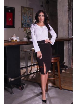 Модная женская юбка с разрезом спереди