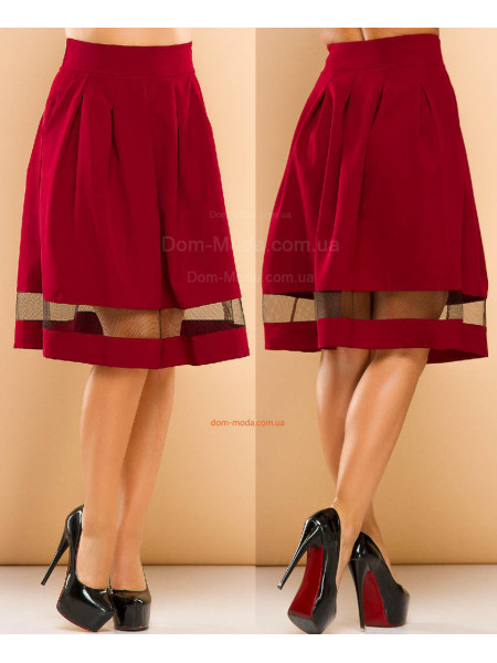 Короткая пышная юбка в складку