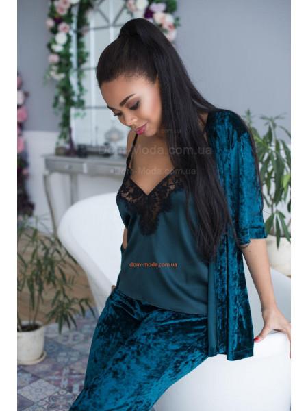 Ночная женская пижама с халатом