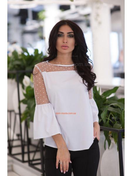 Модна жіноча блузка з сіткою великого розміру