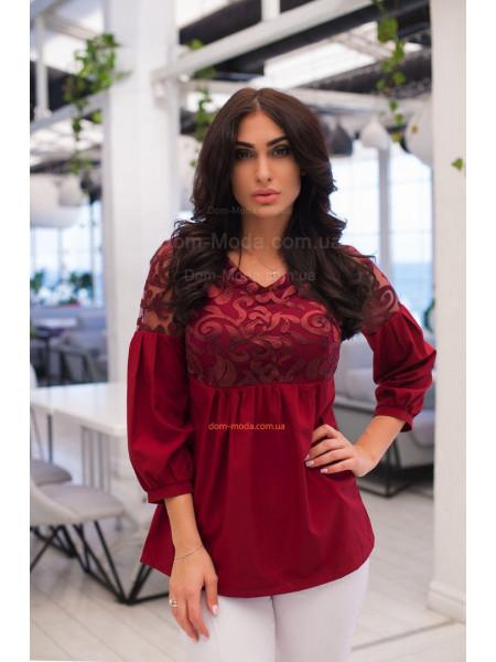 Модна жіноча блузка з рукавом 3/4 великого розміру