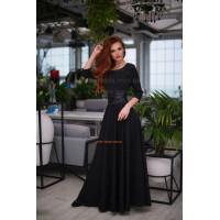 Модное женское однотонное платье в пол