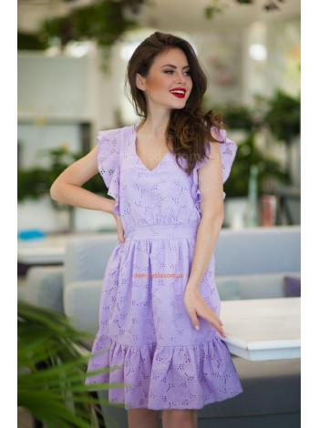 Летнее платье с рукавом крылышко