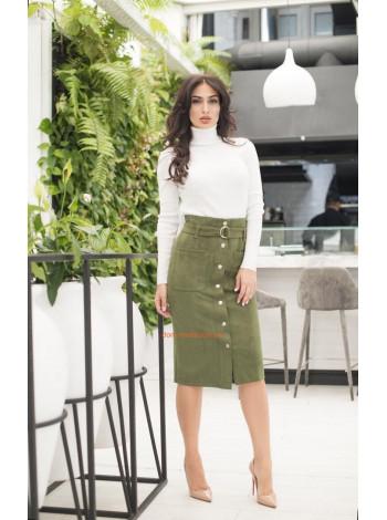 Замшевая юбка с пуговицами