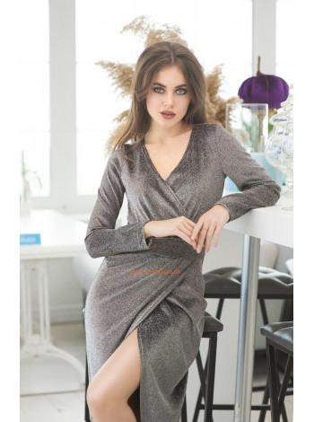 Вечернее платье из трикотажа с люрексом