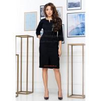 Строгое деловое платье вельветовое