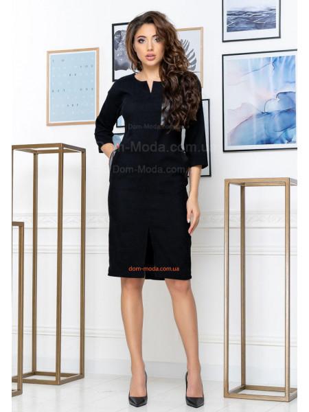 Строге ділове плаття вельветове