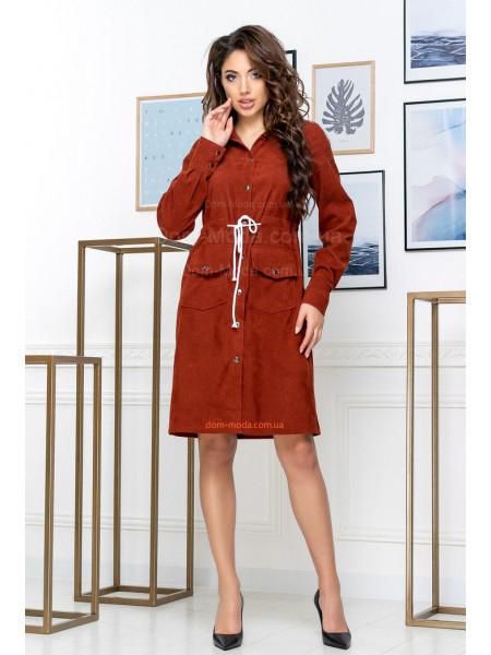 Жіноче плаття сорочка з вельвету