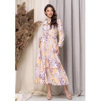 Стильное миди платье в  цветочный принт