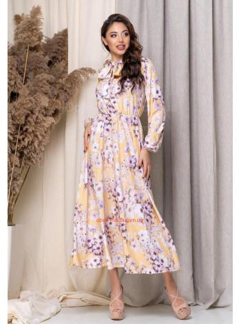 Стильне міді плаття в квітковий принт