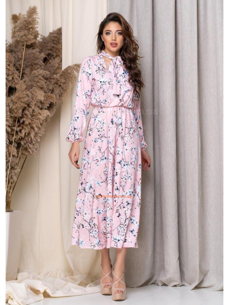 Нежное платье миди с цветочным принтом