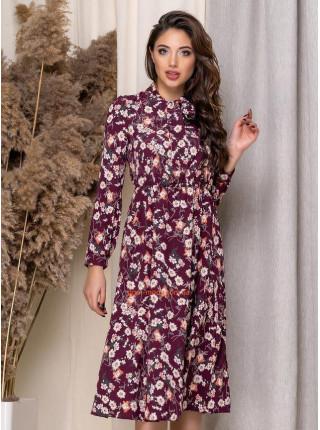 Женское платье миди в мелкий цветочек