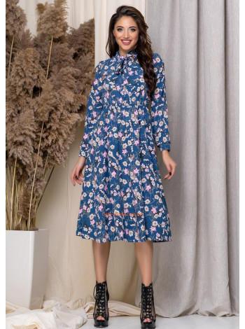 Жіноче плаття міді в дрібну квіточку