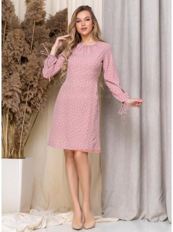 Жіноче легке плаття в горошок