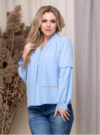 Однотонная блузка для полной женщины