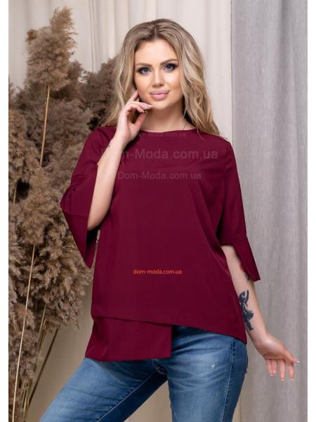 Женская блузка без пуговиц большого размера