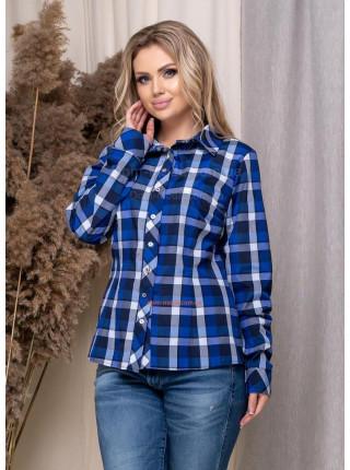 Классическая женская рубашка в клетку большого размера