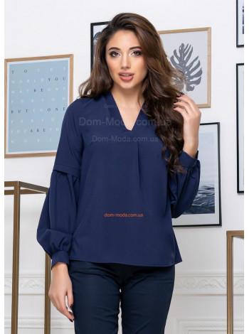Однотонная блузка с v образным вырезом