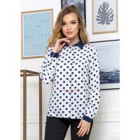 Женская блузка в горох на пуговицах