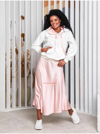 Женский костюм с юбкой миди и кофтой