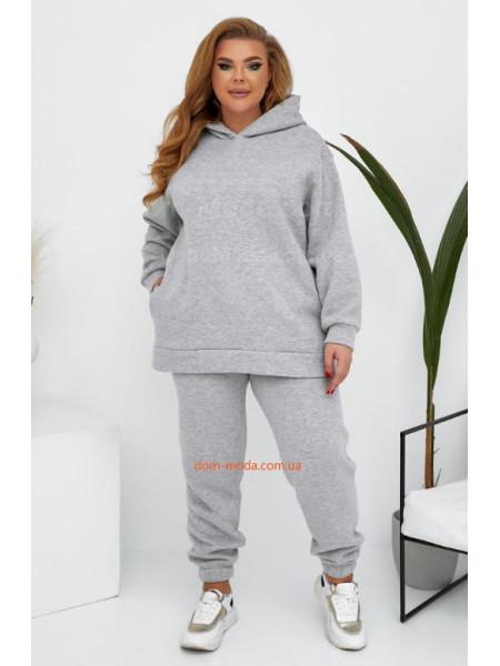 Теплый спортивный костюм женский большого размера
