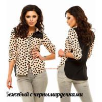 Стильна жіноча сорочка з подовженою спиною