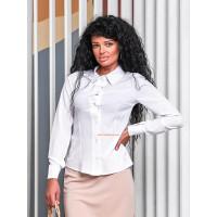 Однотонна жіноча стильна сорочка з довгим рукавом