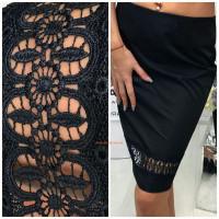 Черная женская юбка карандаш