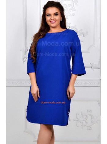 Пряме плаття великого розміру в діловому стилі