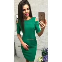 Модное платье женское с коротким рукавом