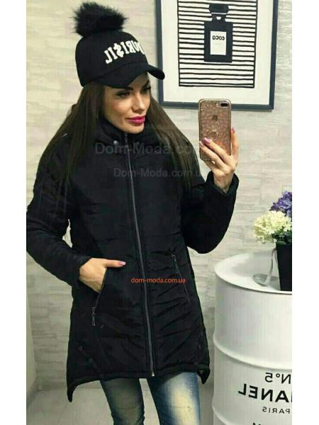 Парка зимова жіноча з капюшоном