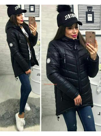 Асимметричная зимняя куртка