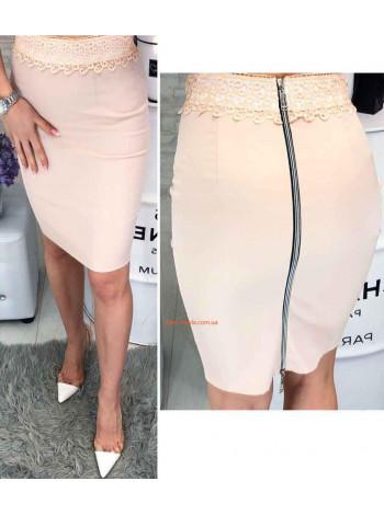 Женская модная юбка с кружевом