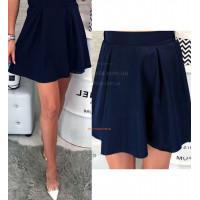 Женская мини юбка в складку