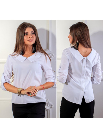 Модна жіноча сорочка з регульованим рукавом
