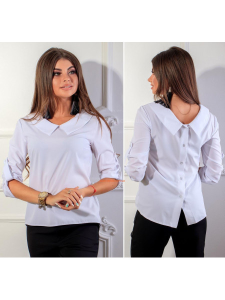 Модная женская рубашка с регулируемым рукавом
