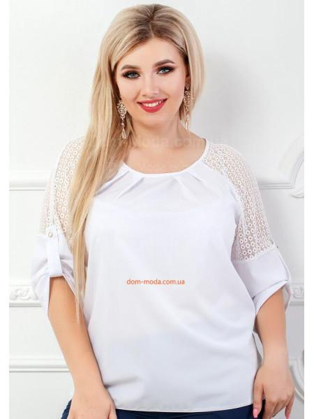 Офисная женская блузка большого размера