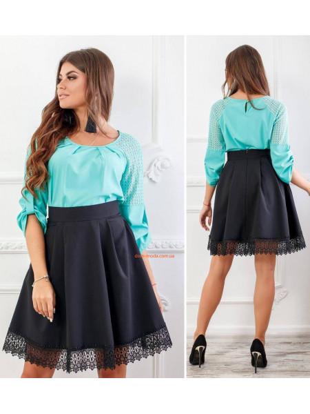 Женская короткая юбка в складку
