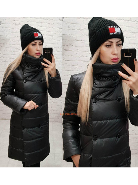 Зимова куртка без капюшона