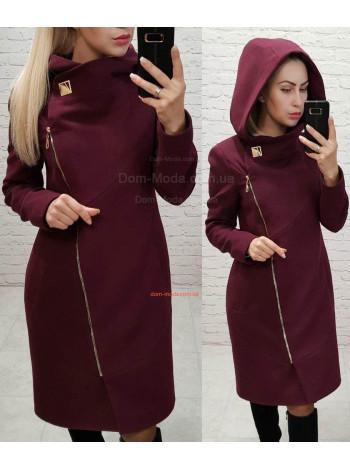 """Модное пальто на синтепоне с капюшоном """"Бон"""""""
