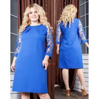 Нарядне жіноче плаття коротке з рукавом великого розміру