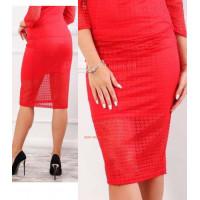 Жіноча модна гіпюрова спідниця за коліно