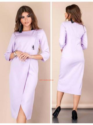 Женское платье миди с разрезом