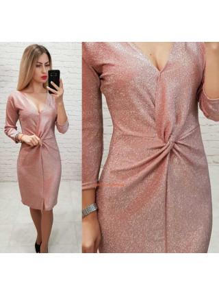Вечірня сукня з тканини з люрексом
