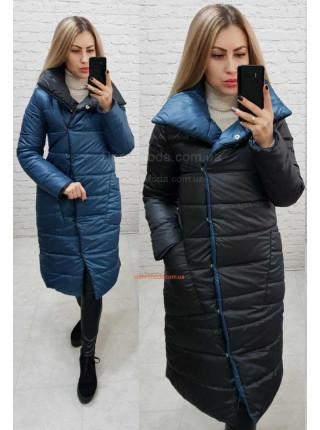 Двухсторонняя зимняя куртка пальто