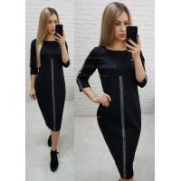 Чорне жіноче трикотажне плаття