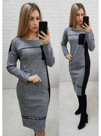 Плаття трикотажне з довгим рукавом
