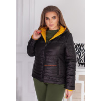Коротка двостороння куртка жіноча весна осінь