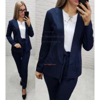 Женский модный пиджак с отложным воротником