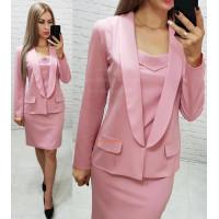 Модний жіночий костюм плаття і піджак